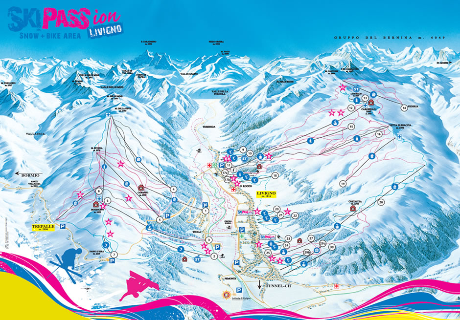 Livigno-Ski-Map